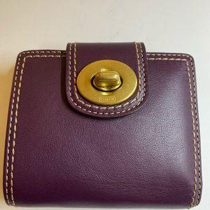 Plum COACH wallet